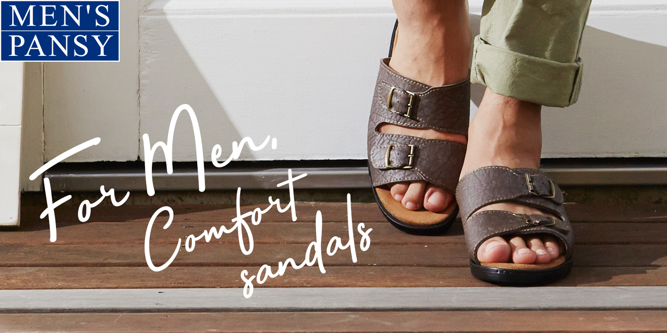 Men's Comfort sandals are also available