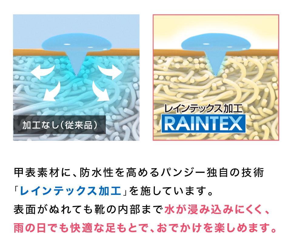 パンジー独自の防水設計
